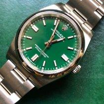 Rolex Oyster Perpetual 36 Acier 36mm Vert Sans chiffres