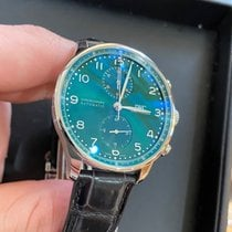 IWC Portuguese Chronograph Steel 41mm Green United States of America, Pennsylvania, Philadelphia
