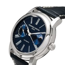Frederique Constant Manufacture Classic Moonphase Steel 42mm Blue Roman numerals