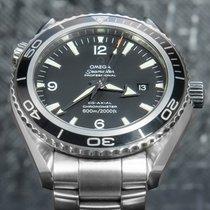 Omega Seamaster Planet Ocean Acero 45.5mm Negro Arábigos