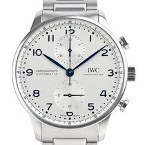 IWC Portuguese Chronograph Staal 41mm Zilver Arabisch
