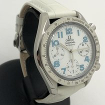 Omega Speedmaster Reduced pre-owned 39mm Mother of pearl Chronograph Leather