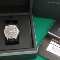 Hamilton Jazzmaster Viewmatic pre-owned 40mm Black Date Leather