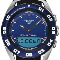 Tissot Sailing-Touch Сталь 45mm Синий