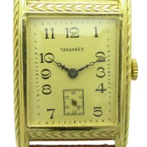 Tavannes Yellow gold Manual winding pre-owned
