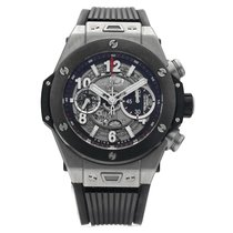 Hublot Big Bang Unico pre-owned 45mm Transparent Chronograph Rubber