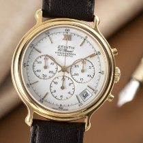 Zenith El Primero Chronograph pre-owned 38mm White Chronograph Date Calf skin