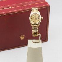 Rolex Oyster Perpetual Lady Date Κίτρινο χρυσό 26mm Χρυσό Xωρίς ψηφία