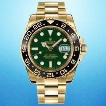 Rolex GMT-Master II 116718LN Очень хорошее Желтое золото 40mm Автоподзавод
