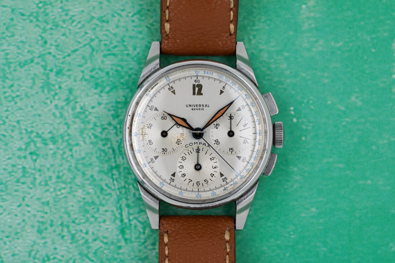 Universal Genève Compax 1942 pre-owned