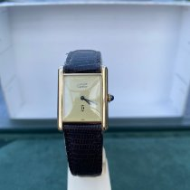 Cartier Silber Handaufzug Gelb Römisch 20mm gebraucht Tank Vermeil