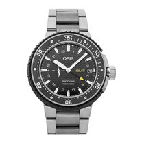 Oris ProDiver GMT pre-owned 44mm Black Date Titanium