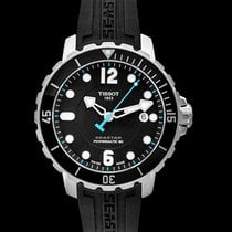 Tissot Seastar 1000 Сталь 42mm Черный