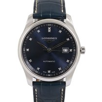 Longines Master Collection pre-owned 40mm Blue Date Leather