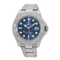 Rolex Platinum Automatic Grey 40mm pre-owned Yacht-Master 40