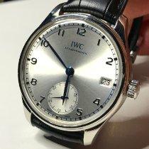 IWC Portugieser Handaufzug Stahl 43mm Silber Arabisch Deutschland, Mannheim