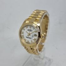 Rolex Lady-Datejust pre-owned 26mm White Date Yellow gold