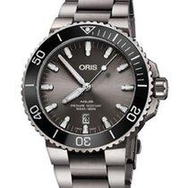 Oris 01 733 7730 7153-07 8 24 15PEB Titanium 2021 Aquis Titanium Date 43.5mm new