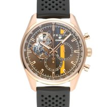 Zenith Rose gold Automatic Brown 42mm pre-owned El Primero Chronomaster