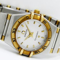 Omega Constellation Ladies pre-owned 22.5mm White Gold/Steel
