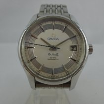 Omega De Ville Hour Vision gebraucht 41mm Grau Datum Stahl
