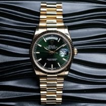 Rolex Day-Date 36 Oro amarillo 36mm Verde
