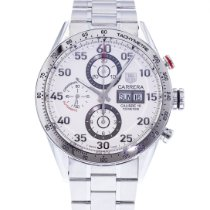 TAG Heuer Carrera Calibre 16 pre-owned 43mm Silver Date Steel