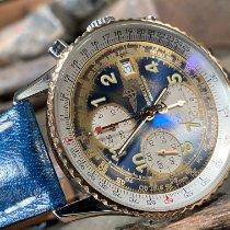 Breitling Old Navitimer Goud/Staal Blauw Arabisch Nederland, Goor