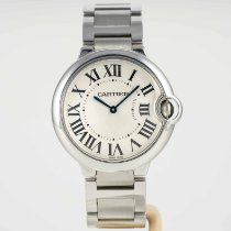 Cartier pre-owned Quartz 36mm Silver Sapphire crystal