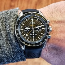 Omega Speedmaster HB-SIA pre-owned 44mm Black Chronograph Double chronograph Date GMT Rubber