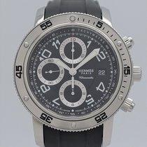 Hermès Clipper używany 44mm Czarny Chronograf Data Kauczuk