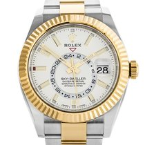 Rolex Sky-Dweller Gold/Steel 42mm White No numerals