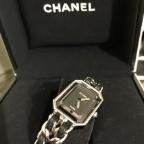 Chanel Steel Quartz Black No numerals pre-owned Première