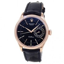 Rolex Cellini Date Rose gold 39mm Black United States of America, New York, New York