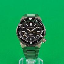Seiko Prospex pre-owned 45mm Black Date GMT Titanium