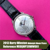 Harry Winston pre-owned Quartz 39mm Silver Sapphire crystal