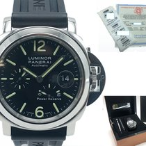 Panerai Luminor Power Reserve Acier 44mm Noir Arabes