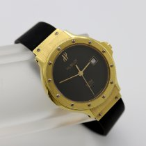 Hublot Yellow gold Quartz Black No numerals 28mm pre-owned Classic