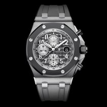 愛彼 Royal Oak Offshore Chronograph 鈦 42mm 灰色 阿拉伯數字 香港