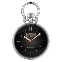 Panerai Table Clock Сталь 65mm Черный