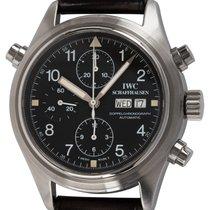 IWC Pilot Double Chronograph Сталь 42mm Черный