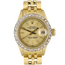 Rolex Yellow gold Automatic Gold No numerals 26mm pre-owned Lady-Datejust