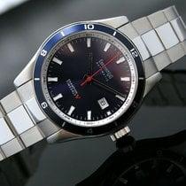 Eberhard & Co. Champion V Steel 42mm Blue No numerals