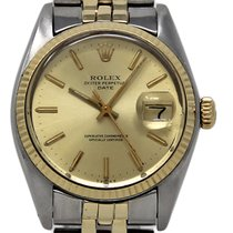 Rolex Oyster Perpetual Date Сталь 34mm Цвета шампань