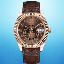 Rolex Sky-Dweller Rose gold 42mm Brown Arabic numerals United States of America, New York, New York