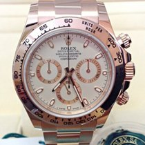 Rolex Daytona Rose gold 40mm White No numerals
