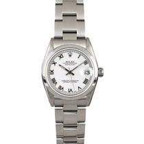 Rolex Lady-Datejust Сталь 31mm Белый Римские