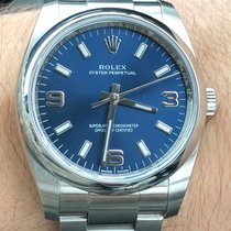 Rolex Oyster Perpetual 34 Steel 34mm Blue Arabic numerals United States of America, New York, Clay