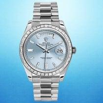 Rolex Day-Date 40 Platinum 40mm Blue United States of America, New York, New York