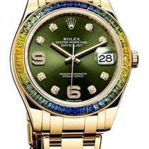 롤렉스 펄마스터 옐로우골드 39mm 녹색